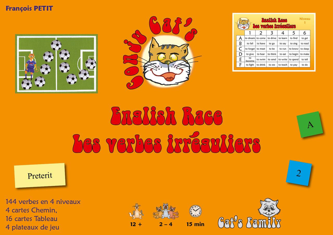 Apprendre Par Le Jeu Avec Cat S Family English Race Les Verbes Irreguliers Anglais